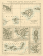 IBERIA Balearics Canaries Gibraltar Andorra Madrid Lisbon JOHNSTON 1892 map